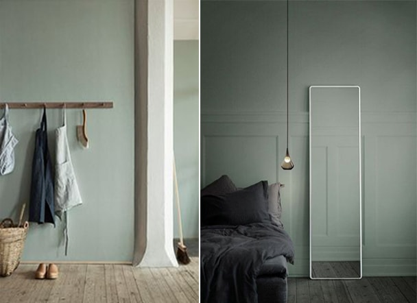 planches d'ambiance green mint moodboard