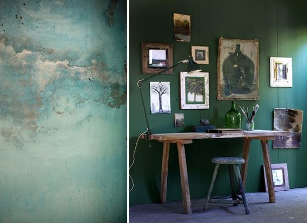 planches d'ambiance green moodboard